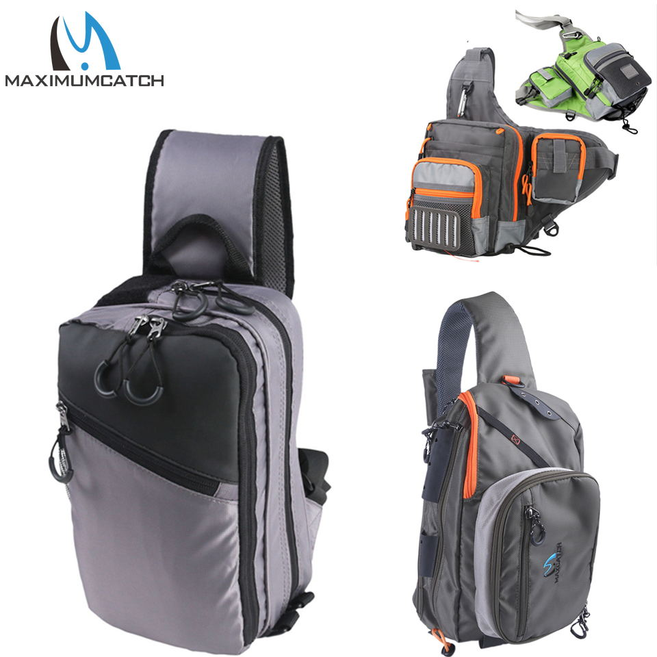 Maximumcatch Fly Fishing Sling Pack 3 Layer Fishing Bag maximumcatch fishing sling back pack outdoorsport fly fishing sling bag with fly patch