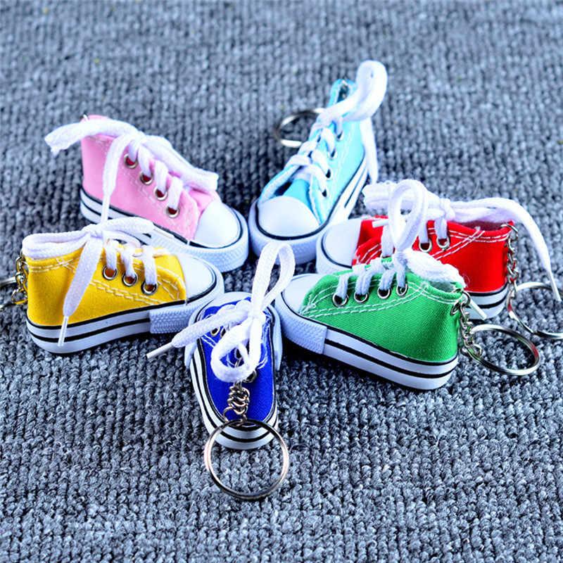GS Mini Silicone Giày Vải Keychain Túi Người Phụ Nữ Quyến Rũ Vòng Chìa Khóa Người Đàn Ông Trẻ Em Key Chủ Quà Tặng Thể Thao Sneaker Móc Chìa Khóa vui Quà Tặng R5