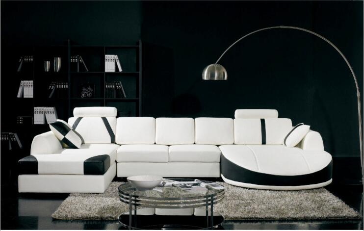 Modern Style  Living Room Genuine Leather Sofa A1283