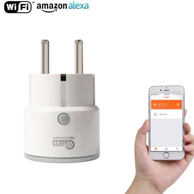 NEO Coolcam WiFi enchufe inteligente Mini inalámbrico inteligente Compatible con Alexa eco Google a casa. IFTT con función de sincronización