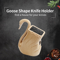 XYj Plastic Knife Holder ABS+TPR Handmade Kitchen Knives Stand Big Capacity For Scissors Knives Cooking Accessories Hot Selling
