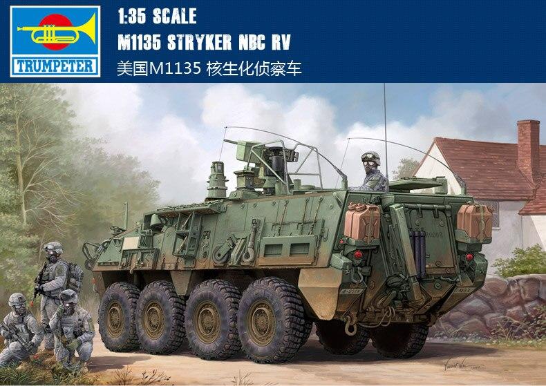 Trumpeter 01560 1/35 M1135 Stryker NBC RVTrumpeter 01560 1/35 M1135 Stryker NBC RV