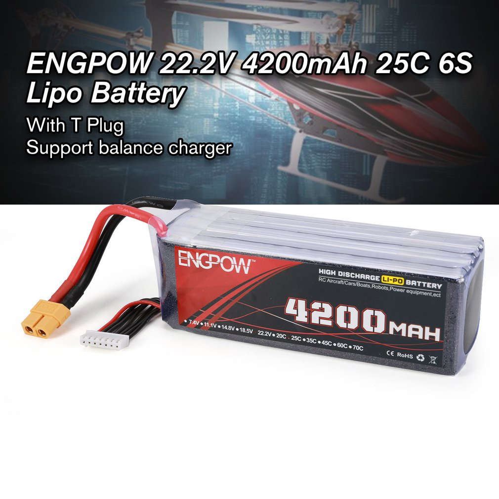 18.5V/22.2V <font><b>5200mAh</b></font> 60C <font><b>6S</b></font> 1P Power <font><b>Lipo</b></font> Battery XT60 Plug Rechargeable for RC Racing Drone Quadcopter Helicopter Airplane image