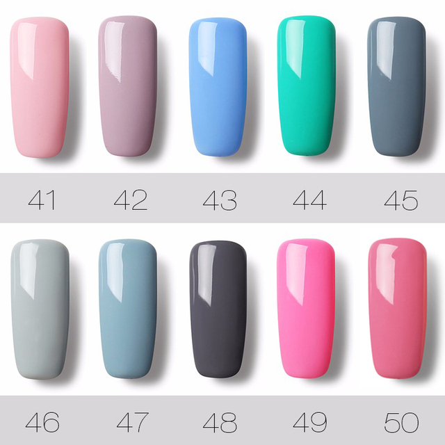 ROSALIND UV Nails Gel Varnish Nail Gel Polish Semi Permanent Hybrid Gellak Set For Nail Manicure Soak off Top Coat White Primer