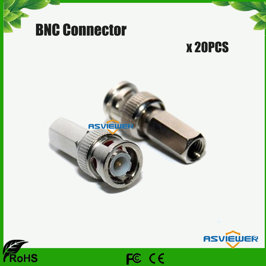 CCTV Security System Use Twist-on BNC Connector Male RG59 For CCTV Cameras 20pcs/lot