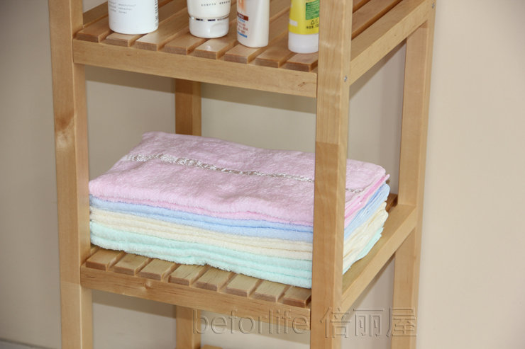 Ikea Badkamer Set : Clapboard wood shelving storage rack shelf bathroom shelf ikea
