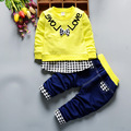 2017 spring The New Long sleeve and pants 2 pieces Children 's suits boys Set Boys Children's clothing Cotton products