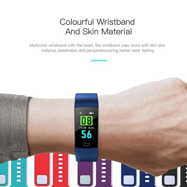 Smart fitness bracelet Y5 Bluetooth health bracelet heart rate blood pressure monitoring pedometer color display smart bracelet