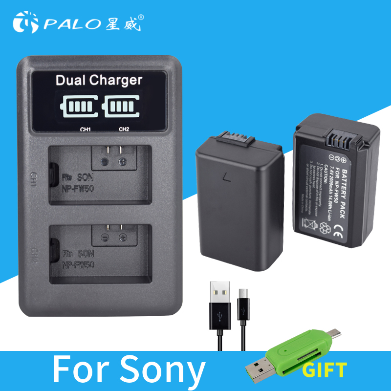 2Pcs 2000mAh NP-FW50 NP FW50 Camera Battery + USB LCD Dual Charger for Sony Alpha a6500 a6300 a7 7R a7R a7R II a7II NEX-3 NEX-3N total english elementary workbook without key cd rom