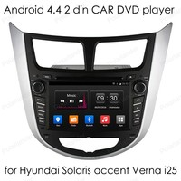 touch Screen Quad Core Car DVD Player 1024*600 Video GPS for Hyundai Solaris accent Verna i25 2 din Android 4.4 auto radio