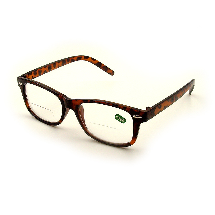 Retro Leopard Bifocals Lens Reading Glasses And Clear Lens For Far View And Near Optical Transparent Presbyopia Hyperopia Reader