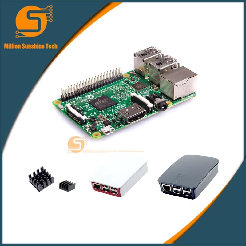 Малина Pi 3 starter kit b с малиновым Pi 3 Модель B + оригинальный Pi 3 чехол + радиаторы pi3 b/pi 3b с Wi-Fi и Bluetooth
