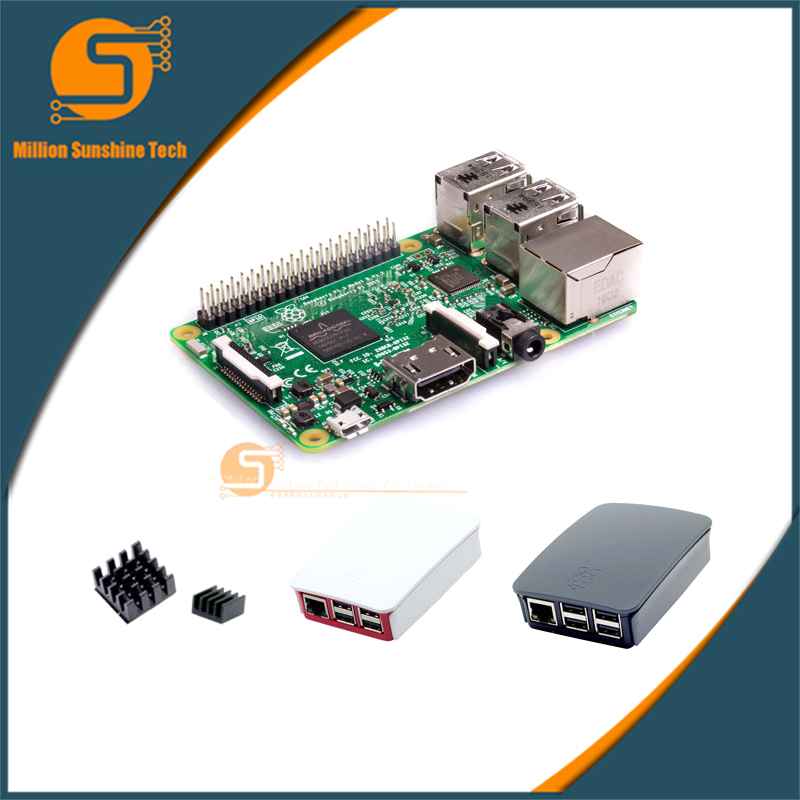 Raspberry Pi 3 Starter Kit B with Raspberry Pi 3 Model B + original pi 3 case + Heatsinks pi3 b / pi 3b with wifi & bluetooth fishing topwater floating popper poper lure 6 high carbon steel hooks crank baits tackle tool 6 5cm 13g fishing tackle zb203