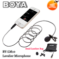 BOYA BY-LM10 Clip-on Lavalier Microphone Omnidirectional for iPhone 6 6plus 5 4S 4,for Sumsang GALAXY s6 LG G3 HTC one
