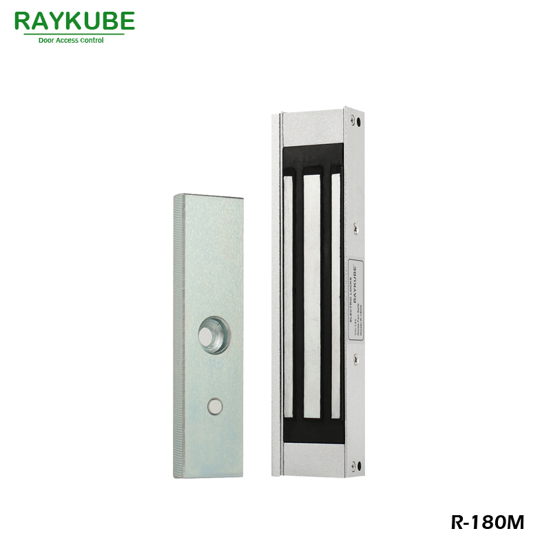 RAYKUBE 180KG(350lbs) Magnetic Electric Lock For Door Access Control System R-180M raykube electric bolt lock for frameless galss door access control system left door lock r b03l