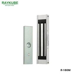 RAYKUBE 180KG (LBS) cerradura eléctrica magnética para sistema de Control de acceso de puerta R-180M