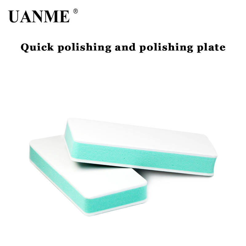 UANME Brass rubber nail polish double sided polished tools plate wenwan polished block in Hand Tool Sets from Tools