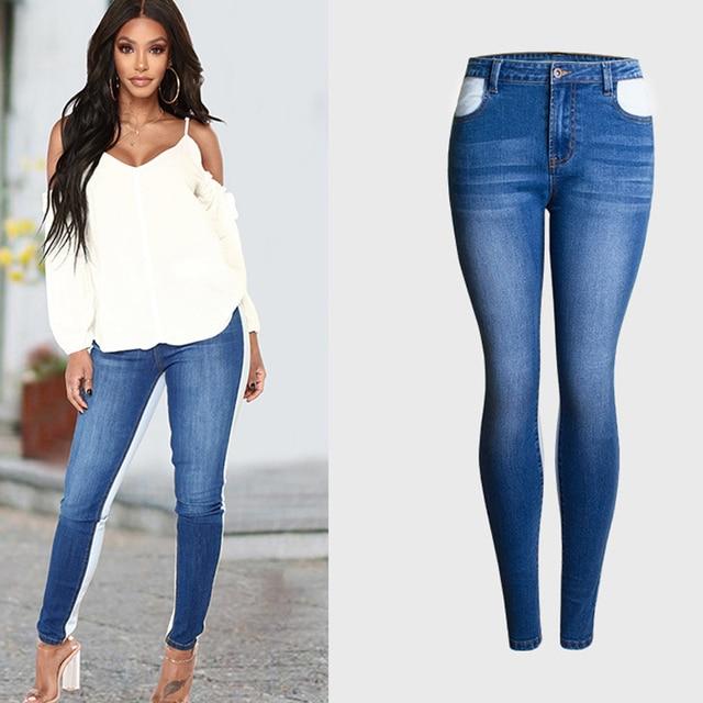 10d6e17d91d Hit Color Women Jeans Pencil Skinny Pencil Pants Women Legging Big and Tall  Women Mid Waist