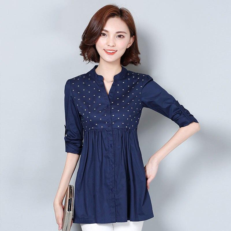 Këmishë e re e grave M-4XL Pranvera e modës 2019 Moda e Lirë - Veshje për femra - Foto 2