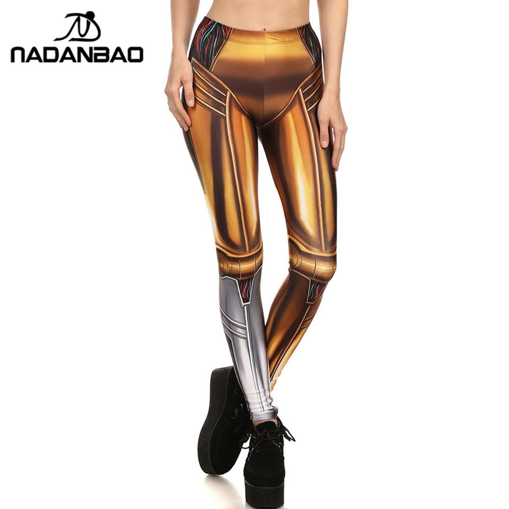 Nadanbao Brand Summer New Style Leggins 2017 Gold Robot -2657