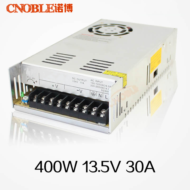 2016 New 400W 13.5V 30A Single Output Switching Power Supply For CCTV Camera LED Strip Light AC to DC SMPS 20w 24v 1a ultra thin single dc output switching power supply for led strip light smps