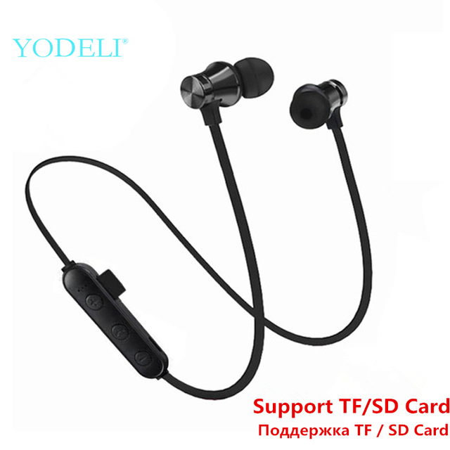 Best Bluetooth Earbuds Sport Wireless Headphones Stereo Bass Bluetooth Earphone Headset with Mic Support TF/SD Card for Phone