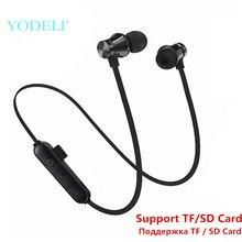 Лучшие Bluetooth наушники, Спортивные Беспроводные наушники, стерео бас, Bluetooth наушники, гарнитура с микрофоном, поддержка TF/SD карты для телефона