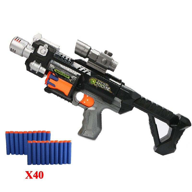 Jouet pistolet fusil pistolet 400 pièces électrique Flexible cartouche absorber balle 3 pièces mousse souple balle Orbeez en plastique Air pistolet jouets