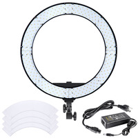 Neewer 18 Inches 55W LED Ring Light Dimmable Bi Color Lighting Kit With LCD Display White
