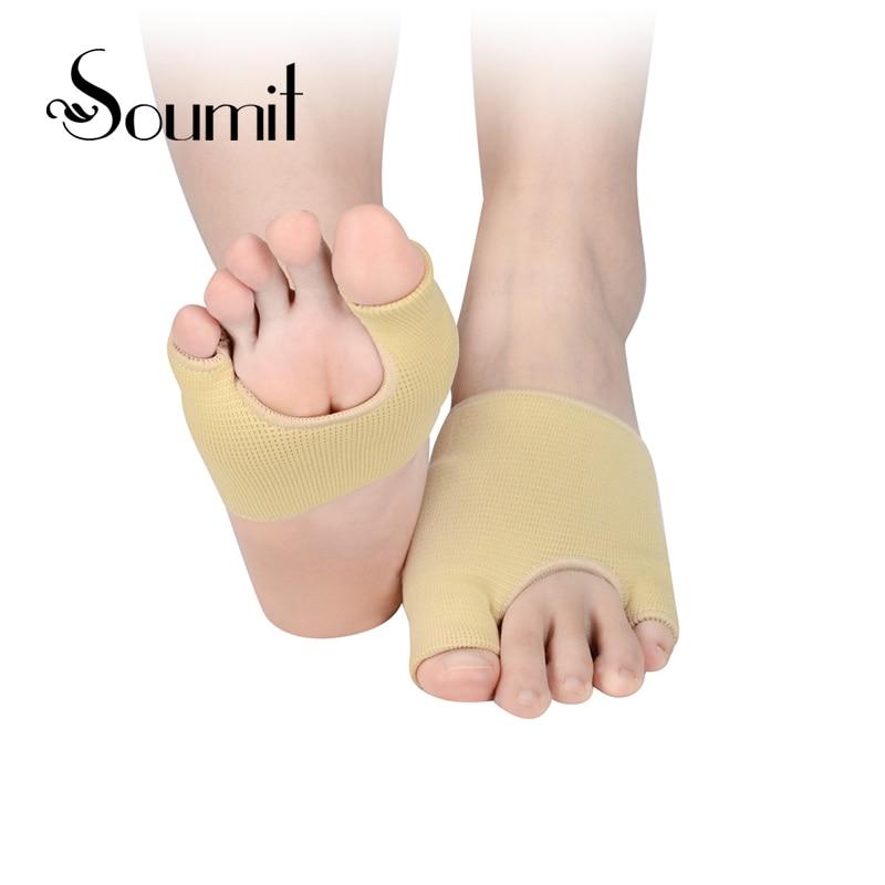 Légáteresztő puha elasztikus gél bélelt lábfej ortotikus átfedő öt lábujjak pedikűr védő hüvely párna láb fájdalomcsillapító talpbetét