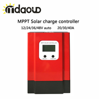 20/30/40A Smart MPPT Solar Charge Controller 12/24/36/48V Auto Recognition with LCD display/ RS485 Port