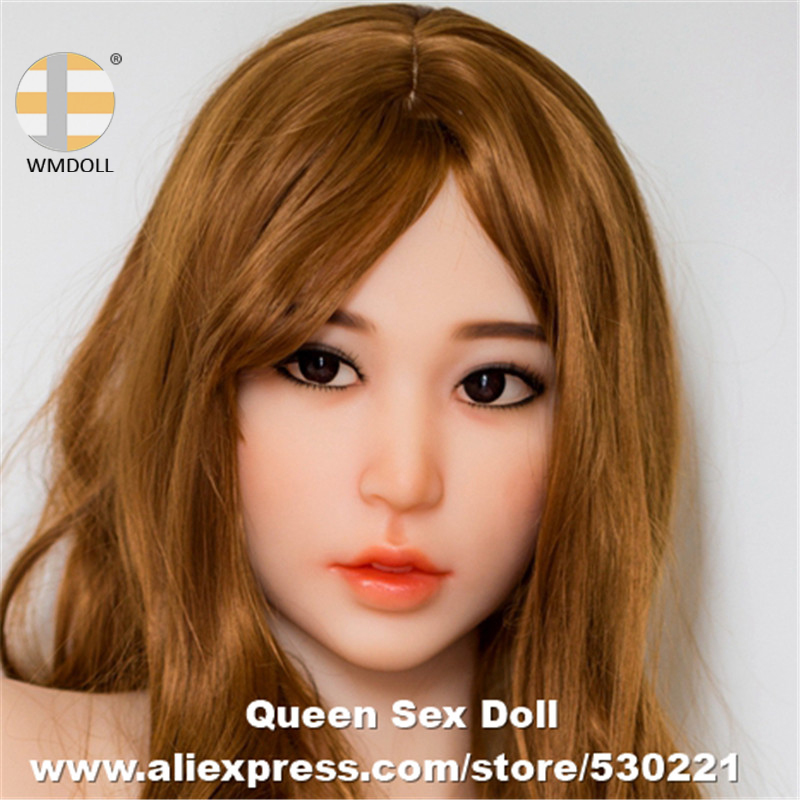 NEW WMDOLL Top Quality Realistic Sex Dolls Head For Japanese Silicone Sexy Love Doll Oral Adult Sexual Product For Men cozsx tpe real silicone sexy dolls head top quality lifelike heads japanese realistic adult love dolls oral for men toy product