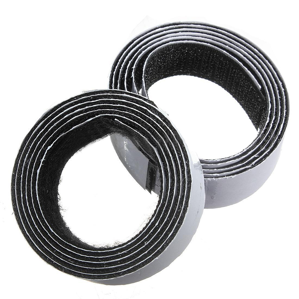 1m x20mm Self Adhesive Sticky Hook And Loop Roll Strap Fastener, Black, 20mm