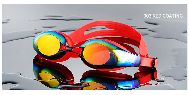 Unisex Professional Myopia Silicone Swimming Pool Glasses Anti Fog Waterproof 6