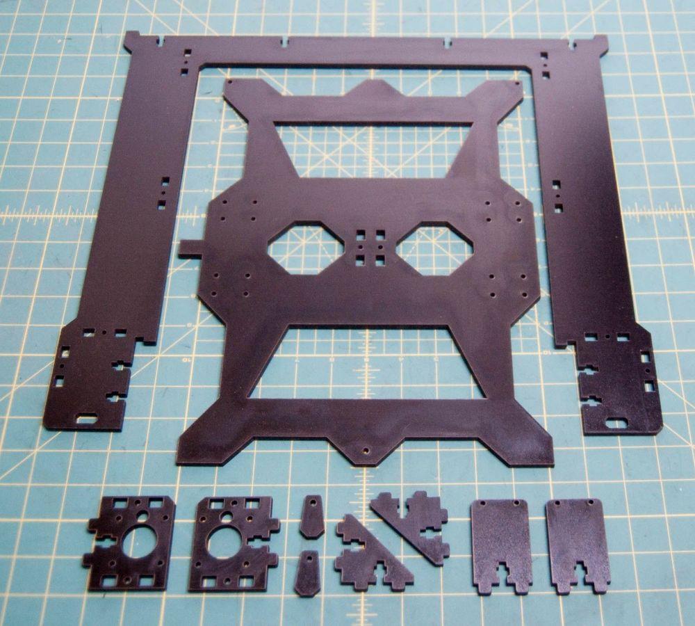 Prusa i3 Rework Extra Large 3D Printer laser cut Frame Kit 6mm PE plate 3d printer repraptantillus 3d printer 6mm acrylic laser cut frame kit set 6mm thickness high quality free shipping page 9