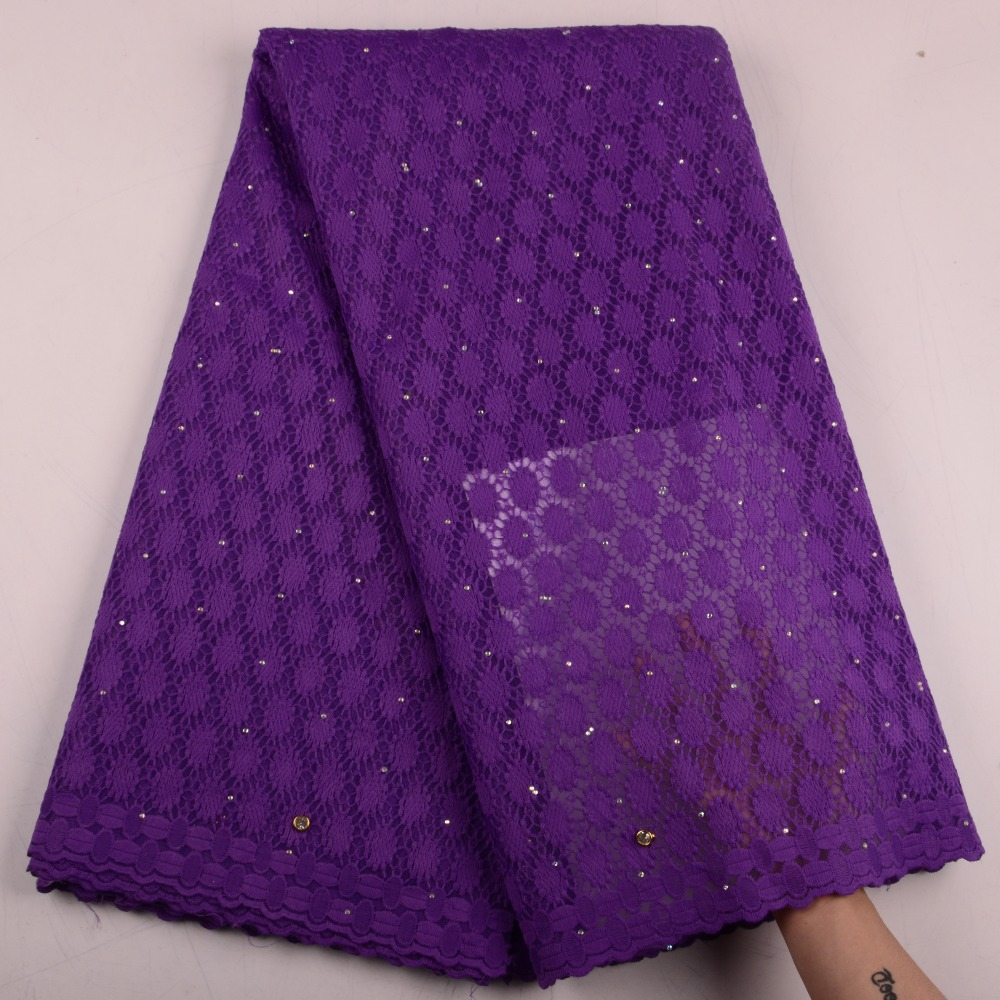 Hot Sale Lace Fabric For Party Dress Purple Color Tulle Net Lace Fabric 5 yards High
