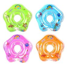 Baby Swimming Pool Accessories Neck Ring Tube Inflatable Baby Boat Float Circle for Bathing Adjustable Safety Aids Rings(China)