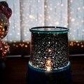 Banco de Potencia De Luz LED Noche Escena Musical Roating Colorful Amo de la Estrella Del Proyector Lámpara Luminaria de Navidad decoraciones