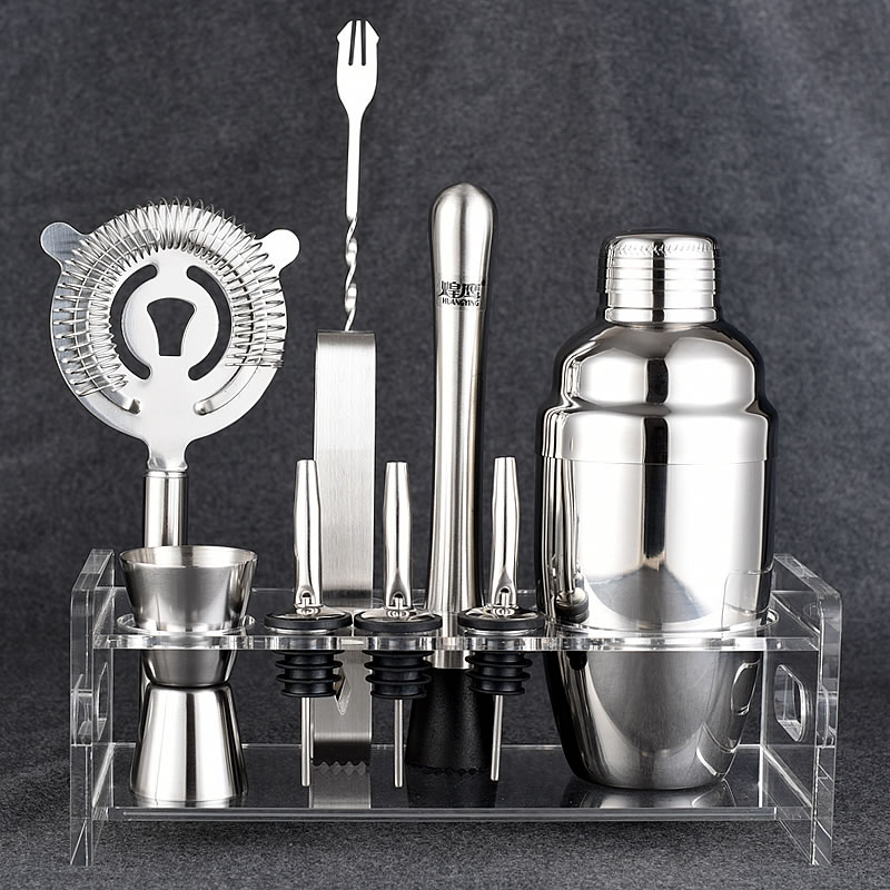 10pcs Stainless Steel Martini Margarita Tail Drink Shaker 350ml 550ml 750ml Bar Bartender Mixer Kit Tool Sets Gift Box In From Home Garden On