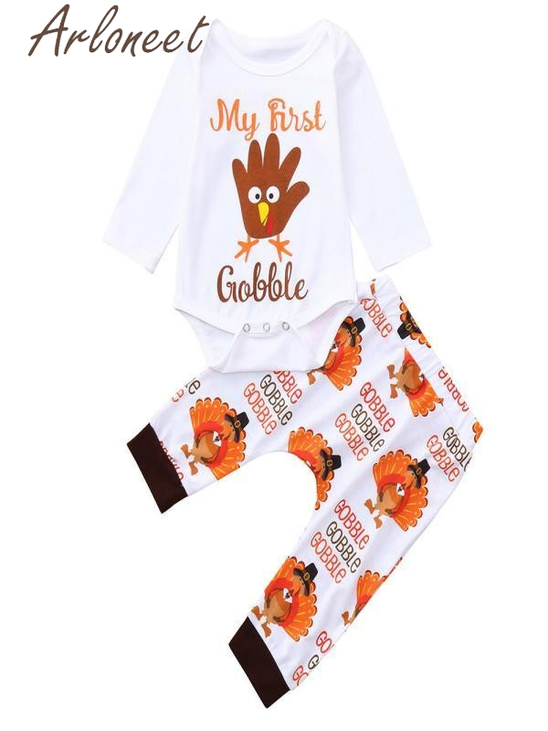 ARLONEET Boys Outfits Set Thanksgiving Day Letter Print baby girl clothes newborn baby girl clothes christmas infant clothing