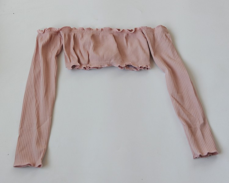 HTB1IFhsOVXXXXbZXpXXq6xXFXXXQ - Women Slash Neck Ruffles Crop Tops with Long Sleeve Sexy Tube Tops PTC 143
