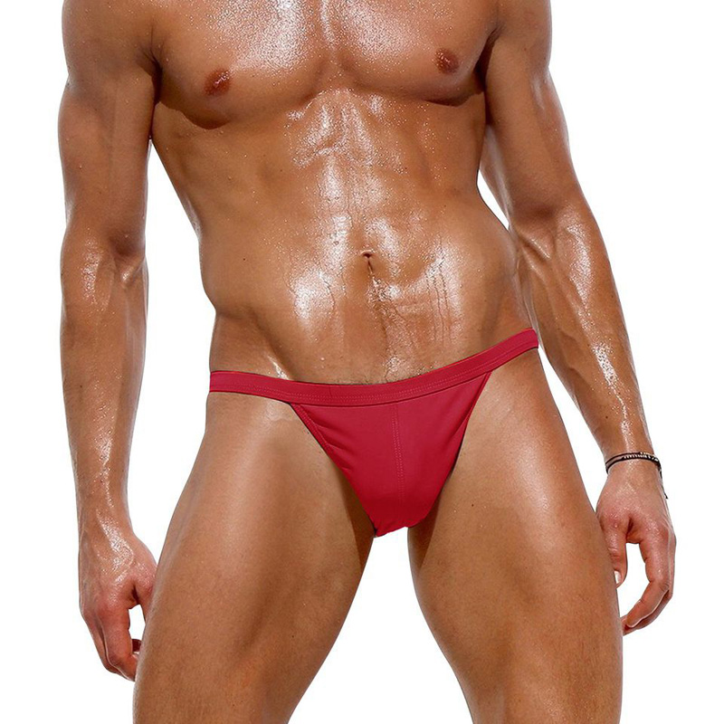 Nylon Gay Mens Thongs And G Strings Swimwear Sexy Men Low Rise Bikini Panties Men Cueca Fast Dry Breathable Surfing Swim Briefs