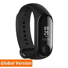Глобальная версия Xiaomi Mi группа 3 умный Браслет фитнес-браслет группа 3 большой сенсорный экран сообщение пульсометр время Smartband