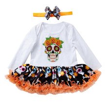 Newborn Halloween Baby Tutu Romper Hallowe'en festival clothes Outfits Baby Girl Jumpsuit NewBorn Infant Clothing Bebes Infantil(China)