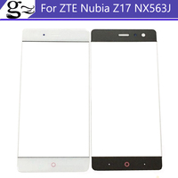 5 5inch White Black Digitizer Touch Screen Glass Len Panel Without Flex Cable For ZTE Nubia