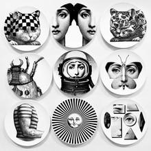 2017 Креативный дизайн узор Италия Милан Розенталь Пьеро Форназетти пластины керамика стене висит декоративные тарелки евро Stlye