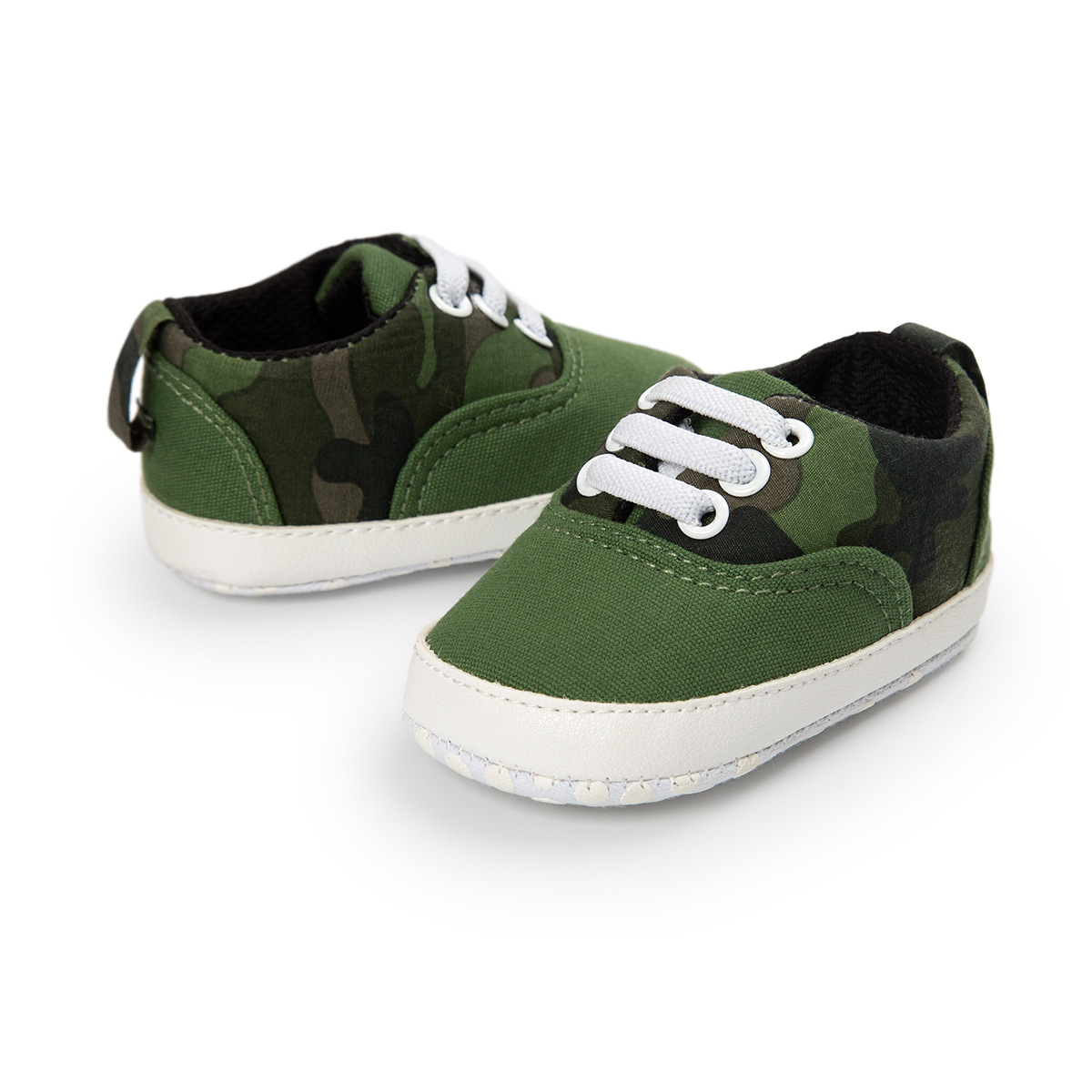 ROMIRUS Camouflage Army Green Baby Boy Shoes Spring Autumn Casual Toddler Shoes Elastic Band Soft Bottom Children's Shoes
