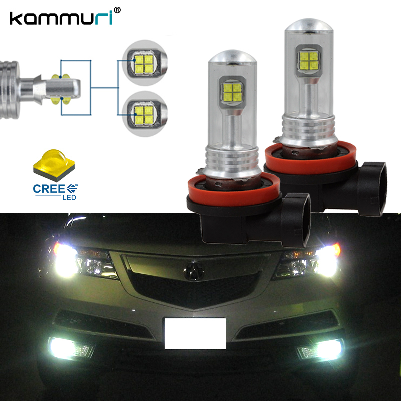 W H H H CREE LED Fog Lights Driving DRL Lamps For Acura MDX - Acura mdx led fog lights