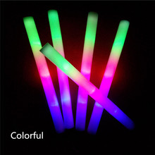 LED Toys 10PCS Light Up World Cup Foam Sticks Glow Party Flashings Vocal and Whistle Concert Reuseable Hot Luminous toy