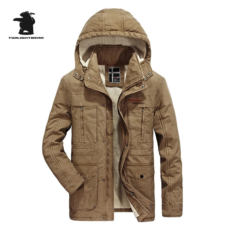 2017 New Winter Men Jacket Designer Fashion Hooded Plus Size Fleece Thicken Casual Jacket Coat For Men Overcoat L~3XL D8F8706 2017 new men s uniform fleece parkas fashion embroidery hood plus size thicked air pilot jacket coat for men pull homme d20f9935
